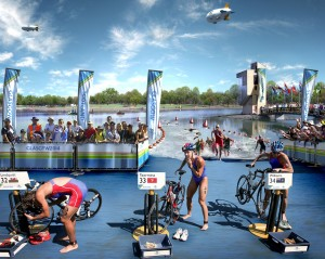 Pływanie w triathlonie to dopiero początek walki. Perspektywa jazdy na rowerze i biegania sprawia, że nogi trzeba oszczędzać. [foto: http://www.triathlonworld.gr/]
