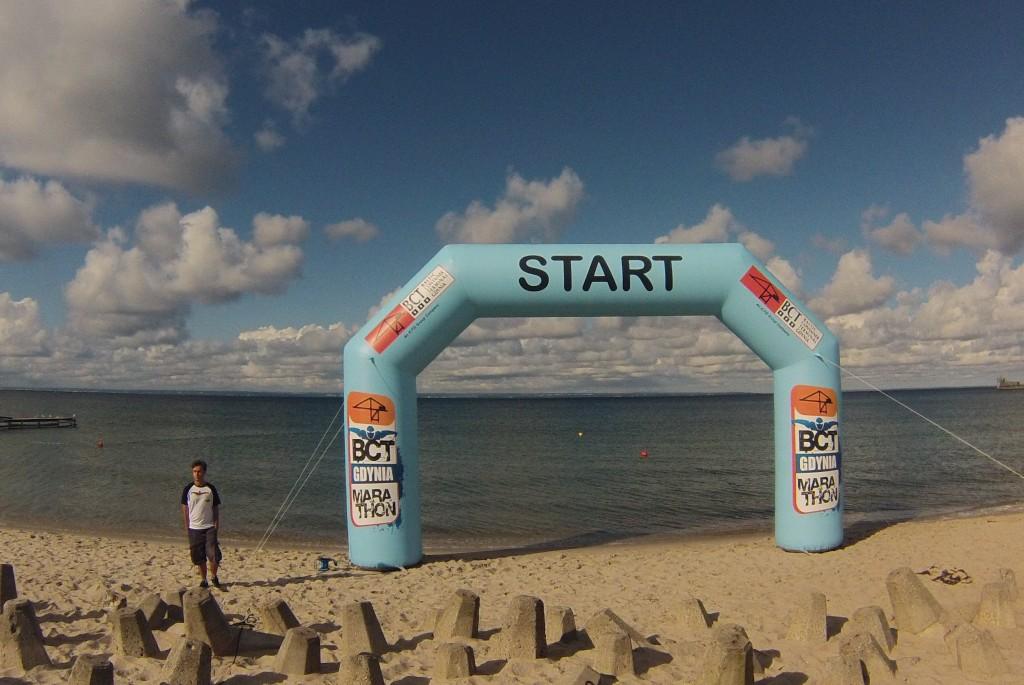 BCT Gdynia Marathon 2013 - jeszcze przed startem...
