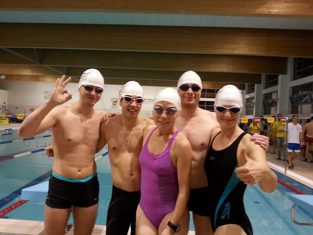Paul Piper's Swimming Team tuż przed startem.