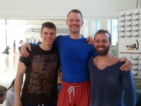 Z Jozefem i Antonisem - prowadzącymi warsztaty Fighting Monkey...