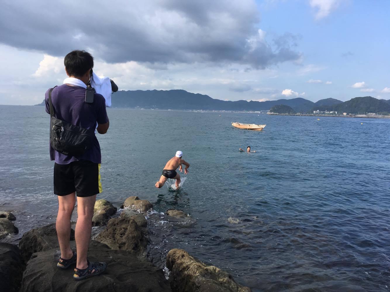 Skok ratowniczy w stylu Nihon Eiho.