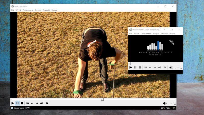 Media Player Classic to mój ulubiony program do analizy wideo, nie ważne czy to ćwiczenia na gumach, czy pływanie.