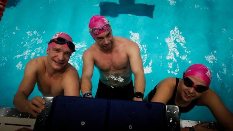 Trening pływania w grupach, Warszawa Trojdena