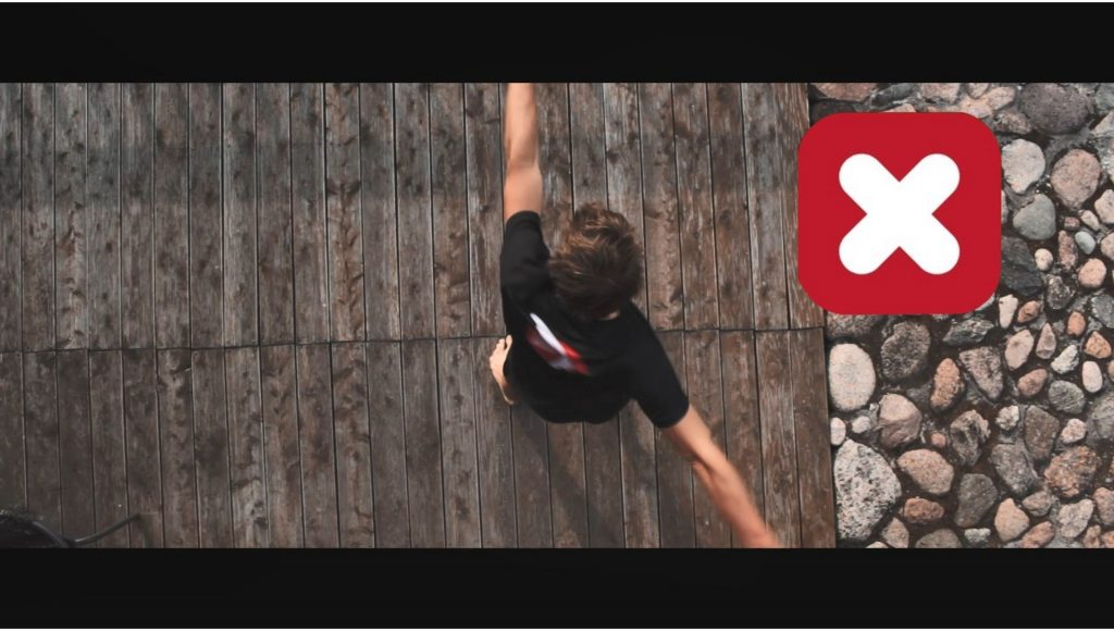 Balistyczny trening CORE, kajakowanie (widok z góry).